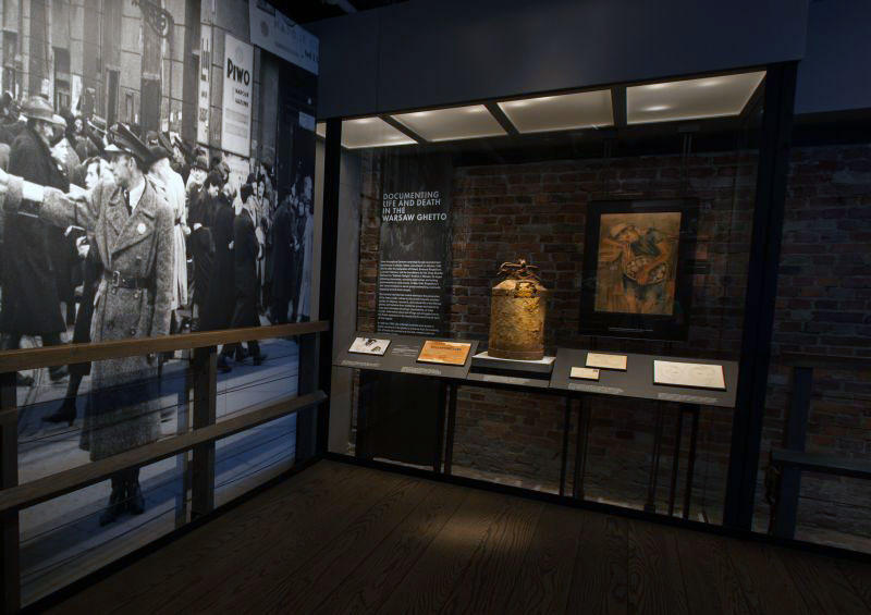 7421bef7 Among the most precious artifacts on display in the Permanent Exhibition is  a rusty milk can from the Warsaw ghetto, on loan to the Museum from the  Jewish ...