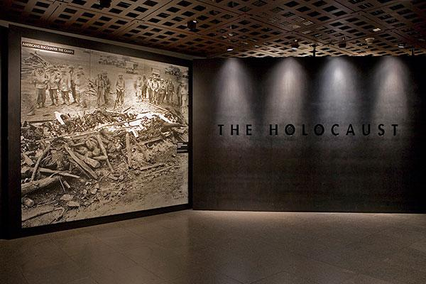 <p>The Museum's narrative history of the Holocaust features historical artifacts, video footage, and personal stories.</p>