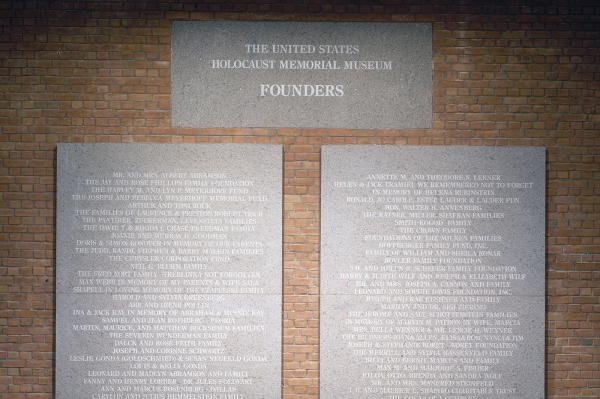 <p>The Founders Society recognizes donors who have taken their cumulative commitment to the exceptional level of $1 million and above to strengthen the Museum's ongoing efforts to teach the lessons of the Holocaust; confront hatred, antisemitism, and Holocaust denial; and prevent genocide.</p>
