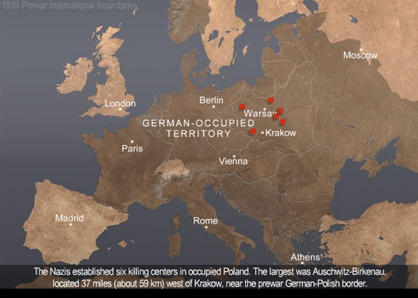 Auschwitz animated map