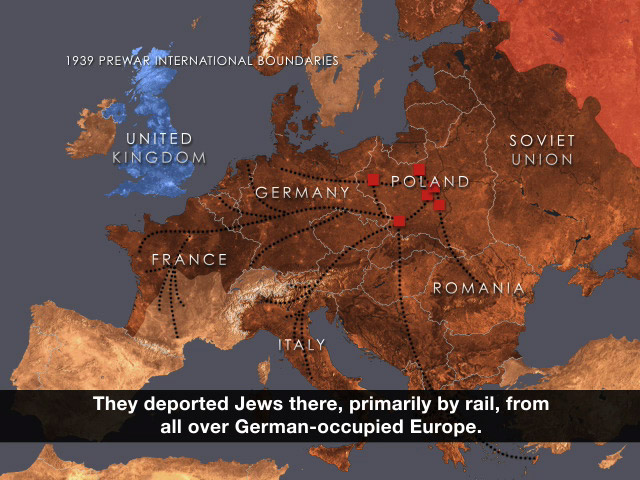 World War II And The Holocaust - Germany map timeline