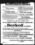 Poster advertising anti-Jewish boycott