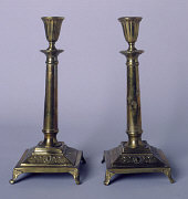 Candlesticks taken to Vilna by Polish Jewish refuge...