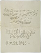 Cover, International Military Tribunal program