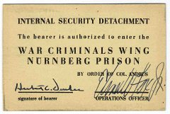 International Military Tribunal prison pass