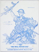 We Will Never Die, program cover, 1943