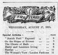 The Times, August 17, 1921