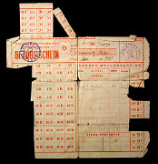 Carte de rationnement de Theresienstadt fournie à Alice...