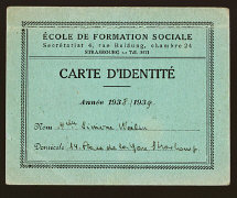 Simone Weil's falsified student card