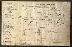Hand-drawn plan of Westerbork transit camp