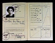 "German passport issued to Alice ""Sara"" Mayer..."