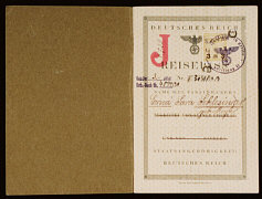 "German passport Issued to Erna ""Sara"" Schlesinger..."