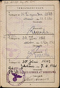 5-ая страница паспорта, выданного Сетти Сондхаймер