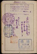 Page 12 du passeport délivré à Setty Sondheimer