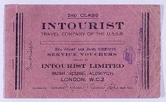 Intourist service voucher for the Trans-Siberian Ra...