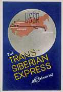 Suitcase label for Trans-Siberian Express