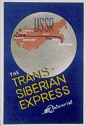 Etiquette de valise pour l'Express Transsibérien