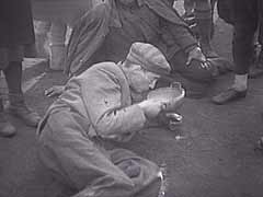 Bergen-Belsen after liberation<br />Bergen-Belsen, Germany, 1945<br />