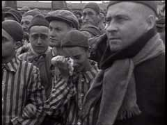 Jewish religious service at Dachau<br />Dachau, Germany, May 3, 1945<br />