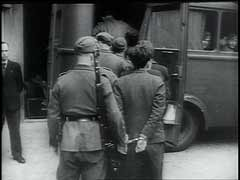 German military court trial of French resistance members