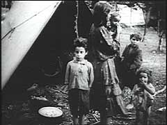 Germany and its Axis allies invaded Yugoslavia in April 1941. The Germans probably shot this film after they occupied southern Slovenia following the Italian armistice in 1943. The film was found in the Ustasa (Croatian fascist) archives after World War II and shows the dismal living conditions that Roma (Gypsies) endured in occupied northern Yugoslavia.