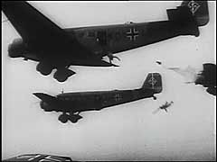 German paratroopers land near Rotterdam