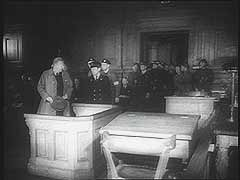 War crimes trial of Vidkun Quisling<br />Oslo, Norway, August-September 1945<br />
