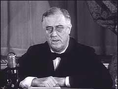 Roosevelt announces aid for Britain