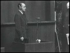 Albert Speer sworn in at Nuremberg