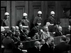 Reactions to film shown at Nuremberg<br />Nuremberg, Germany, November 1945<br />