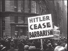 Una protesta anti-nazi