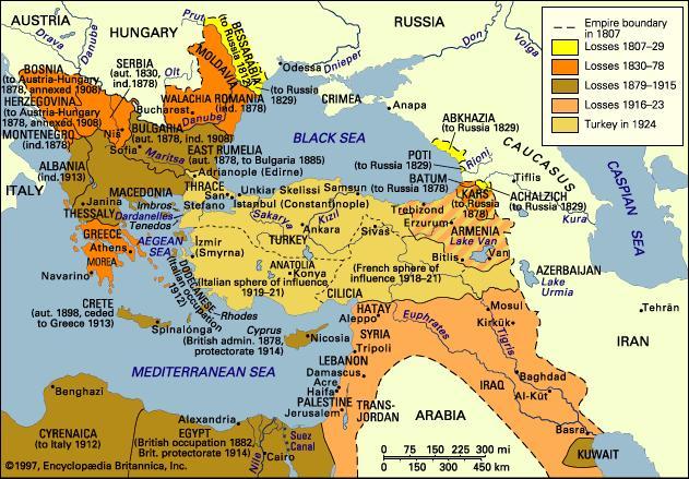 The Dissolution of the Ottoman Empire 18071924
