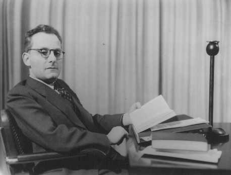 Max Brod, a Czech-born Jewish author and composer who wrote in the German language. An active Zionist, he succeeded in leaving for Palestine in 1939. Prague, Czechoslovakia, February 27, 1937.