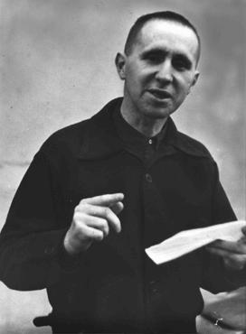 """Bertolt Brecht, author of the """"Threepenny Opera"""" and a well-known leftist poet and dramatist, who emigrated from Germany in 1933. In exile, he co-edited an anti-Nazi magazine titled """"Das Wort."""" London, Great Britain, 1936."""