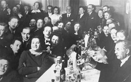 A wedding celebration. Kovno, Lithuania, ca. 1938.