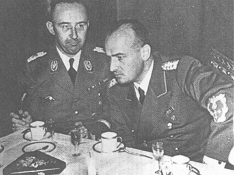 SS chief Heinrich Himmler (left) and Hans Frank, head of the Generalgouvernement in occupied Poland. Krakow, Poland, 1943.