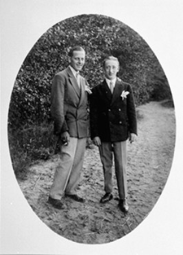 A homosexual couple. Berlin, Germany, ca. 1930.