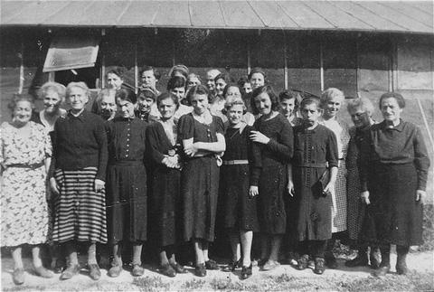 Prisoners at Gurs detention camp. Gurs, France, ca. April 1941.