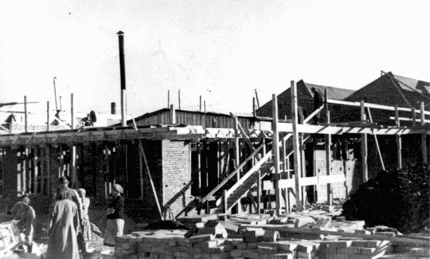 Construction of Oskar Schindler's armaments factory in Bruennlitz. Czechoslovakia, October 1944.