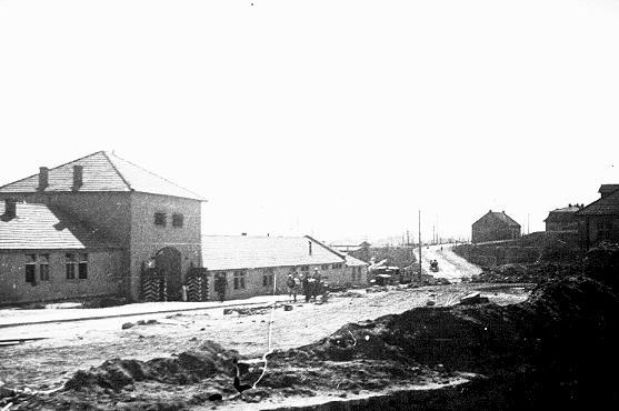 Vue partielle du camp de concentration de Plaszow. Plaszow, Pologne, 1943-1944.
