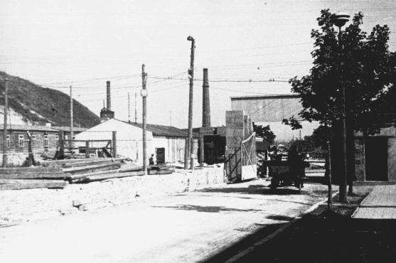 Entrance to the Plaszow camp. Plaszow, Poland, 1943-1944.