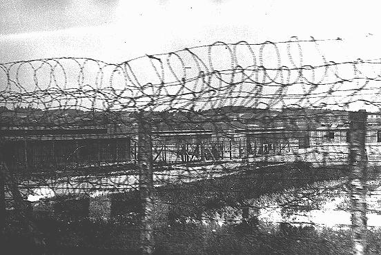 The fence surrounding the Plaszow camp. Plaszow, Poland, 1943-1944.