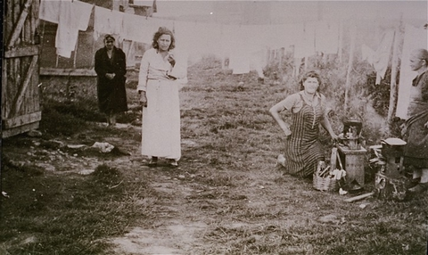 Jewish women prisoners in the Gurs camp. Gurs, France, ca. 1943.