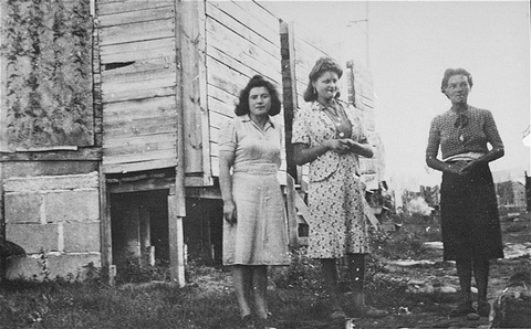 Women prisoners in the Gurs camp. Gurs, France, ca. 1943.