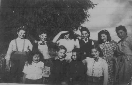 Jewish refugee youth, on an escape route from France to Switzerland, at a Children's Aid Society (OSE) girls' home. Couret, France, ca. 1942.