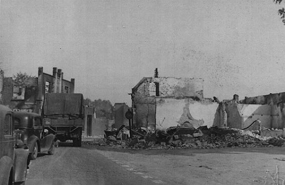 Ruined buildings in a French town destroyed by German forces during the Western Campaign. France, May-June 1940.