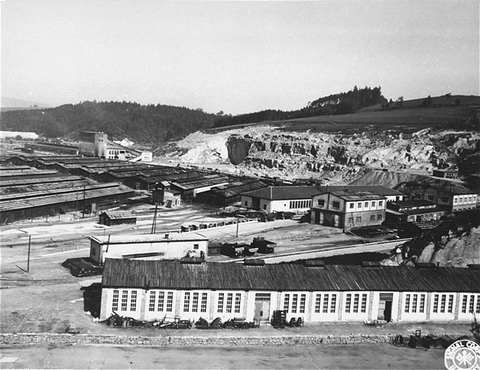 The Gusen subcamp of the Mauthausen concentration camp. This photograph was taken after the liberation of the camp. Gusen, Austria, May 1945.