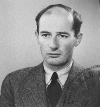 Passport photograph of Raoul Wallenberg. Sweden, June 1944.