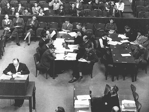 The prosecution team during the Doctors' Trial. Nuremberg, Germany, December 9, 1946-August 20, 1947.
