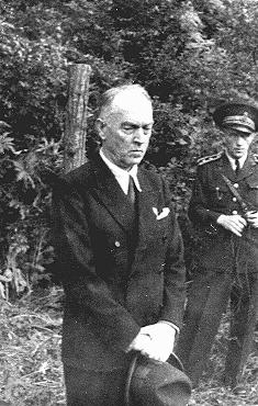 Former Romanian prime minister Ion Antonescu before his execution as a war criminal. Camp Jivava, near Bucharest, Romania, June 1, 1946.